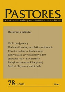 Pastores nr 78 (1) 2018 - Duchowni a polityka